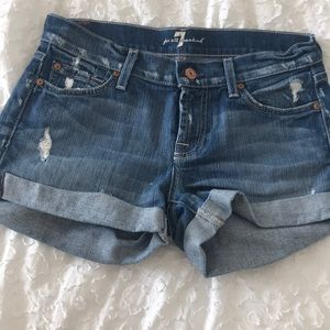 7 for all mankind jean shorts; size 26